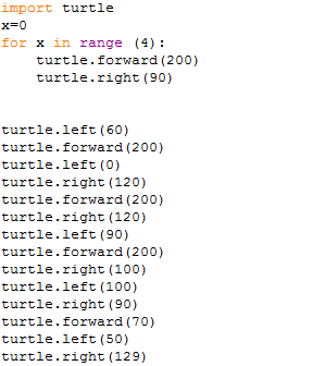 how to draw a triangle in python turtle